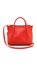 Nina Ricci Leather Satchel Vermillion