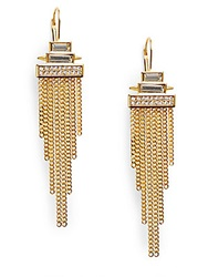 Vince Camuto Glam Punk Chain Fringe Earrings Gold
