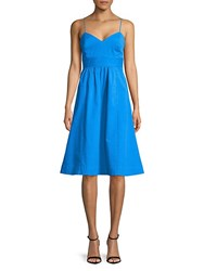 Plenty By Tracy Reese Laced Back Frock Dress Blue