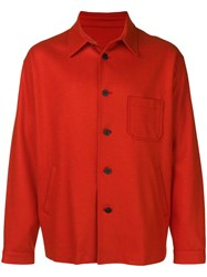 08Sircus Super 140 Shirt Jacket Orange