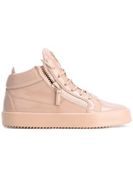 Giuseppe Zanotti Design Varnished Hi Tops Pink Purple