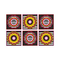 Images D'orient Set Of 6 Coasters Henne