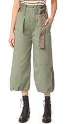 Marc Jacobs Belted Cargo Culottes Military Green