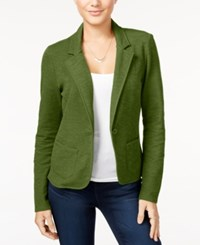 Freshman Juniors' Ponte Knit Blazer Burnt Olive