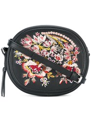 N 21 No21 Floral Embroidery Clutch Bag Black