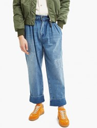 J.W.Anderson Blue Baggy Pleated Denim Trousers