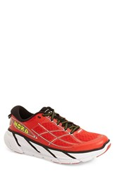 Hoka One One Men's 'Clifton' Running Shoe Poppy Red White