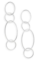 Argentovivo Argento Vivo Drop Link Earrings Silver