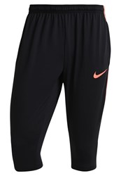 Nike Performance 3 4 Sports Trousers Black Hyper Orange