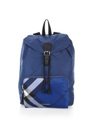 Burberry Solid To Check Backpack Dark Teal