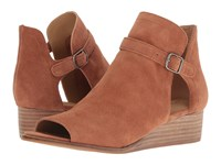Lucky Brand Reemas Toffee Oiled Suede Women's Wedge Shoes Brown
