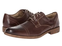 Dockers Harkness Brown Distressed Burnishable Full Grain Men's Lace Up Cap Toe Shoes