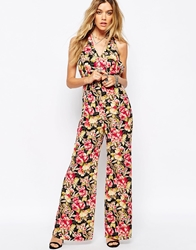 Asos Reclaimed Vintage Jumpsuit In Floral Print Multi
