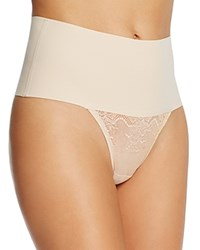 Spanx Undie Tectable Lace Thong Sp0615 Soft Nude