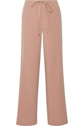 Theory Winszlee Crepe Wide Leg Pants Antique Rose