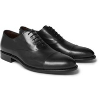 Hugo Boss Stockholm Cap Toe Leather Oxford Shoes Black