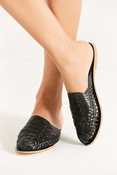 Urban Outfitters Uo Woven Huarache Mule Black