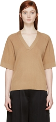 Maiyet Beige Cashmere Short Sleeve Top