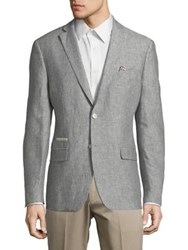 Tallia Orange Textured Mason Fit Linen Sportcoat Grey