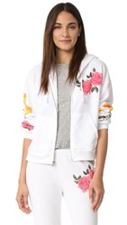 Wildfox Couture Meadow Flowers Zip Hoodie Clean White
