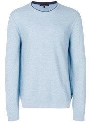 Michael Kors Collection Crew Neck Jumper Blue