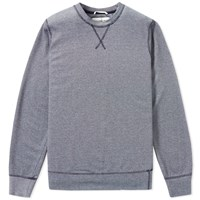 Universal Works Soft Knit Crew Sweat Blue