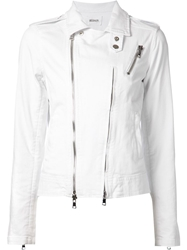 Hudson Double Zip Biker Jacket White