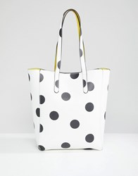 Stradivarius Large Spot Shopper Multi