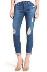 Ag Jeans Women's The Stilt Distressed Roll Cuff Cigarette Leg