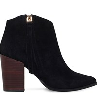 Carvela Smashing Zipped Suede Ankle Boots Black