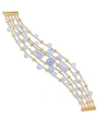 Marco Bicego Paradise Chalcedony Multi Row Bracelet In 18K Yellow Gold