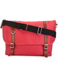 Comme Des Garcons Vintage Messenger Shoulder Bag Red