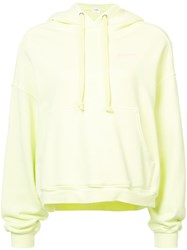 Re Done Oversized Logo Hoodie Green