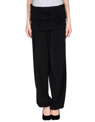 Oblique Casual Pants Black