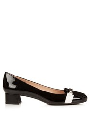 Tod's Frangia Patent Leather Block Heels