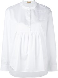 Peter Jensen Pleated Blouse White