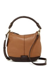 Tignanello Braided Beauty Leather Hobo Brown