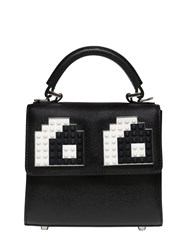 Les Petits Joueurs Micro Alex Eyes Leather Top Handle Bag