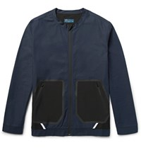 Under Armour Sportswear Pivot Shell Panelled Textured Cotton Jacket Navy