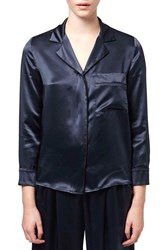 Women's Topshop Boutique Silk Satin Shirt