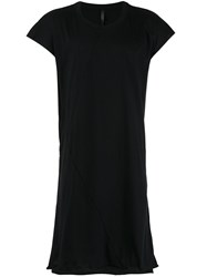 Barbara I Gongini Elongated Open Back T Shirt Black