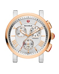 Michele Sport Sail Rose Golden Stainless Steel Watch Head