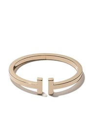 Tiffany And Co. Co 18Kt Yellow Gold T Square Cuff Metallic