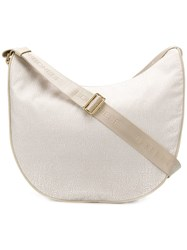 Borbonese Medium Luna Shoulder Bag Neutrals