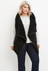 Forever 21 Plus Size Faux Fur Vest Black Black