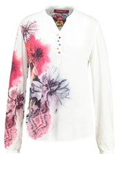 Desigual Butterfly Blouse Blanco White