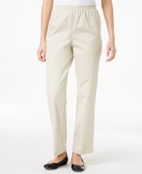Alfred Dunner Twill Pull On Pants Stone