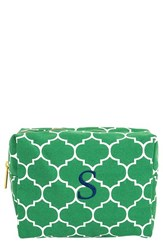Cathy's Concepts Monogram Cosmetics Case Green S
