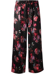 Thakoon Printed Crop Trousers Black