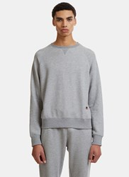 Russell Athletic Raglan Crew Neck Sweater Grey